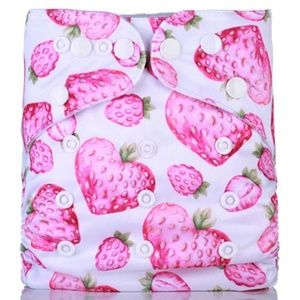 Other - Strawberry Reusable Cloth Pocket Diaper